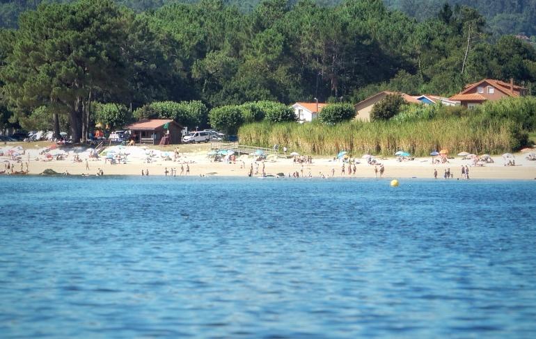 Playa de Broña, en Outes