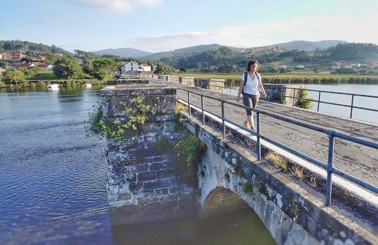 Camino de Santiago de la Ría Muros Noia a su paso por Pontenafonso
