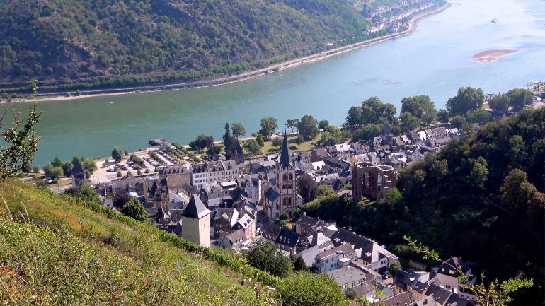 Vistas de Bacharach, uno de los pueblos más bonitos del Rin